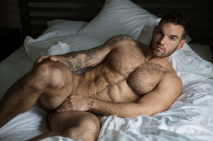 Hot naked guy in bed