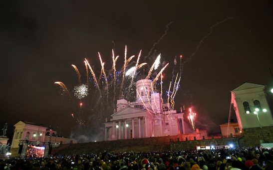 New Year celebrations in Helsinki